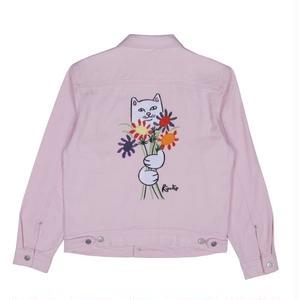 RIPNDIP |  Nermcasso Flower Denim Jacket (Pink)