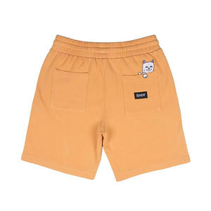 RIPNDIP | Peek A Nermal Over Dye Sweat Shorts (Orange)