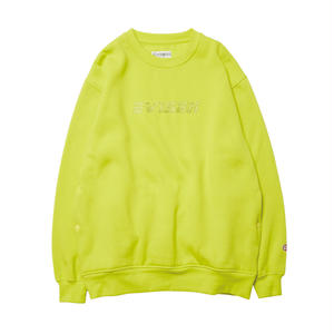 EVISEN SKATEBOARDSゑ®︎ | REPLICANT STITCH CREW NECK (LIME YELLOW)