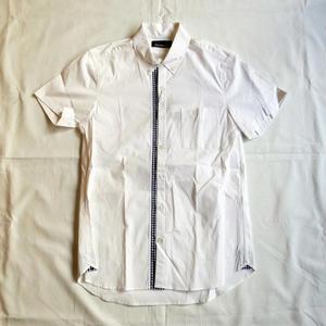 FRED PERRY | 半袖シャツ(ホワイト/ブラックブルー:ギンガムチェック)