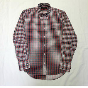 USED(古着)BEN SHERMAN シャツ(ネイビー/レッドチェック)