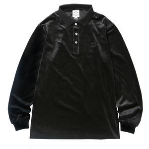 BORN X RAISED / VELOUR SHIRT  (BLACK)