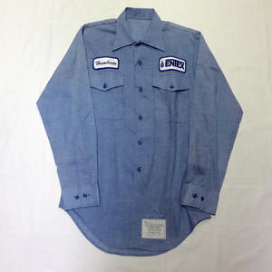 USED(古着)80年代製 U.S.NAVYシャンブレーシャツ(インディゴ)