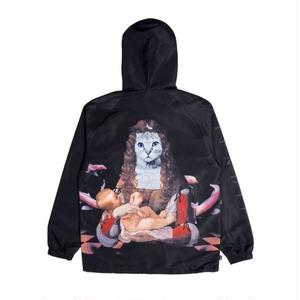 RIPNDIP | MOTHER FISH BABY HOODED COACH JACKET (BLACK)