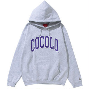 COCOLO BLAND / COLLAGE LOGO HOODIE(ASH)