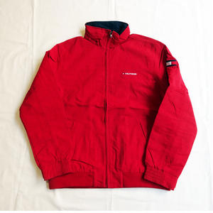 USED(古着)TOMMY HILLFIGER ナイロンジャケット(レッド)