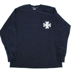 LONELY論理 #7 | IRON CROSS LONELY POCKET LONG SLEEVE(BLACK)