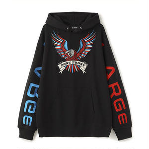 XLARGE® |  BIG EMBROIDERY LOGO PULLOVER HOODED SWEAT (BLACK)