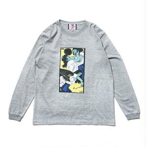 SON OF THE CHEESE | Face long shirt(GRAY)