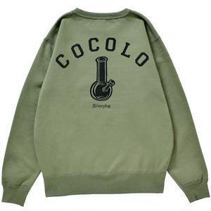 COCOLO BLAND / BACK BONG HEAVY CREWNECK (OLIVE)