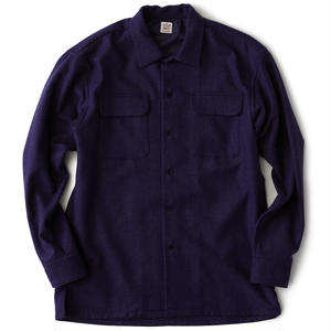 FAT Classic | Wool Flannel Shirt (PURPLE)