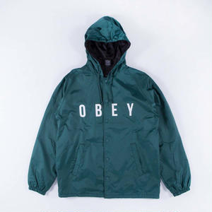 OBEY | ANYWAY HOODED COACHES JACKET (DARK TEAL)