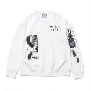 SON OF THE CHEESE | FACE WILD LIFE CREW(WHITE)