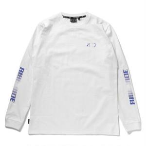 430 | RIDE GRADE LOGO L/S TEE(WHITE)