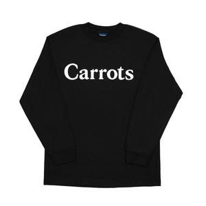 CARROTS | WORDMARK LONGSLEEVE T-SHIRT(BLACK)