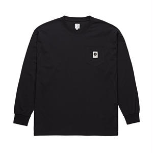 POLAR SKATE CO. / POCKET L/S TEE (BLACK)