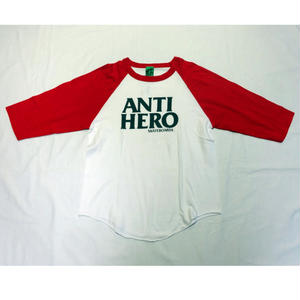 USED (古着)ANTI HERO ラグランTシャツ(ホワイト/レッド)