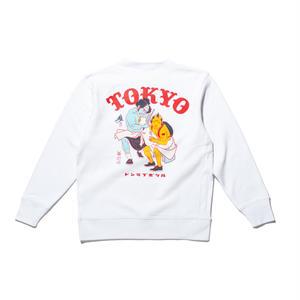 坩堝 | RUTSUBO×YU SUDA  御免 TOKYO CREW SWEAT (WHITE)