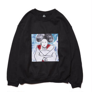 HOLE AND HOLLAND | BJK CAT CREW NECK (BLACK)