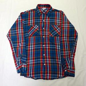 USED(古着)70年代製 BIC MAC ネルシャツ( ブルーチェック)