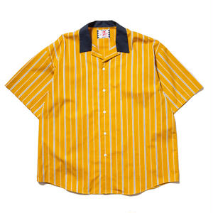 SON OF THE CHEESE | Stripe Cleric Shirt (YELLOW)
