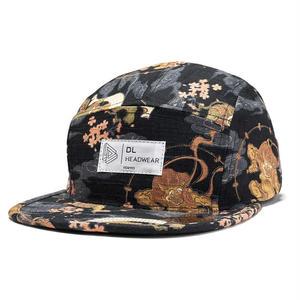 "DL HEADWEAR | Omega 5Panel Camp Cap ""fujin raijin"""