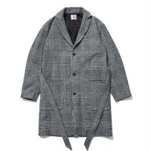 SON OF THE CHEESE | check gown coat (GLEN CHECK)