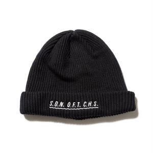 SON OF THE CHEESE | SOTC wave knit CAP (BLACK)