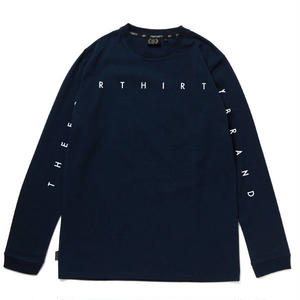 430 | NARROW LINE LOGO L/S TEE (NAVY)