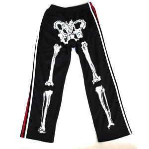 LONELY論理 #7 | KAW A NABE BONEZ 2LINE JERSEY PANTS / RED&WHITE LINE(BLACK/WHITE,RED)