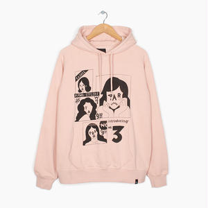 BY PARRA | HOODED SWEATER PERMA STYLED8 (PINK)