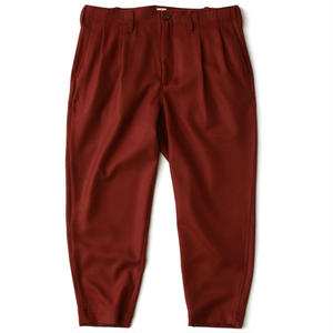 FAT  CLASSIC |  Wool Twill Pants (Brown)