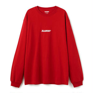 XLARGE® | L/S TEE EMBROIDERY STANDARD LOGO(レッド)