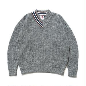 SON OF THE CHEESE | HALF V sweter (GRAY)