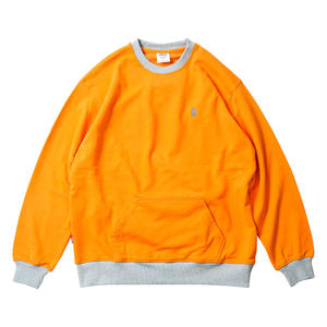 Tightbooth / CONTRAST CREW SWEAT (ORANGE)