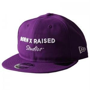 BORN X RAISED / STUDIOS DAD HAT (PURPLE)
