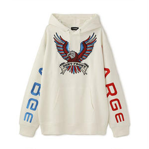 XLARGE® |  BIG EMBROIDERY LOGO PULLOVER HOODED SWEAT ( WHITE)
