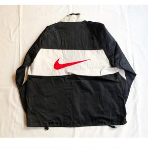 USED(古着)NIKE 90年代ナイロンジャケット(ブラック/ホワイト)