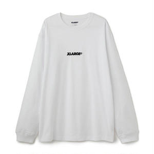 XLARGE® | L/S TEE EMBROIDERY STANDARD LOGO(ホワイト)