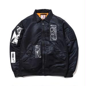 SON OF THE CHEESE | FACE  MA-1(BLACK)