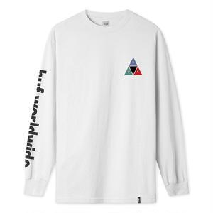HUF / PRISM TT L/S TEE (WHITE)