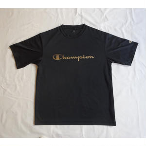 USED (古着)CHAMPION メッシュTシャツ(ブラック)