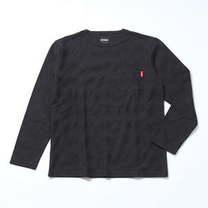 Oh!theGuilt: CHEVLON STRIPE BORDER L/S T-SHIRT(ブラック)