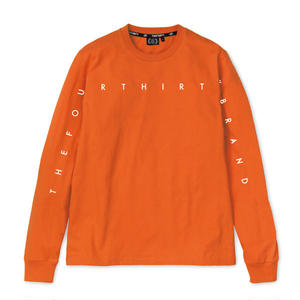 430 | NARROW LINE LOGO L/S TEE (ORANGE)