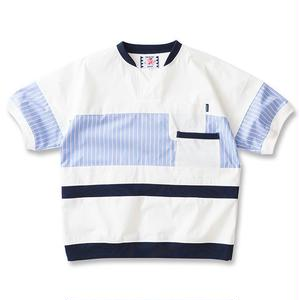 SON OF THE CHEESE | cool max patch work TEE(WHITE)