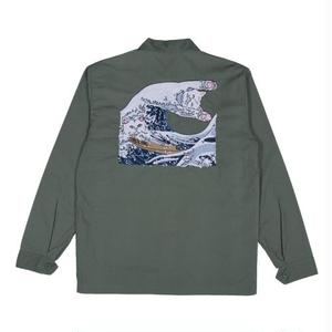 RIPNDIP | THE GREAT WAVE MILITARY JACKET (OLIVE)