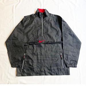 USED(古着)NIKE 90年代プルオーバーナイロンジャケット(ブラック)