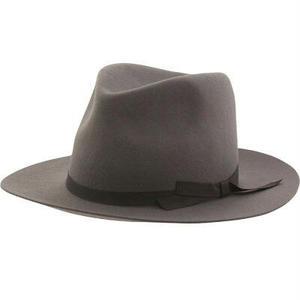 Brixton | Manhattan Fedora Hat(ライトグレー)