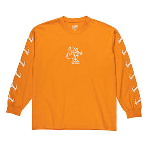 POLAR SKATE CO. / ANGRY STONER LONGSLEEVE (B. ORANGE)