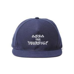 坩堝 | RUTSUBO×MHAK A SEA FOR YOURSELF SNAPBACK CAP (NAVY)